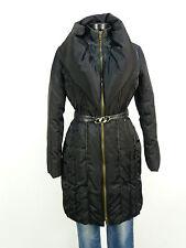 ROCCOBAROCCO Cappotto Piumino Taglia 40/Nero & con cintura & come nuovo (L 5146)