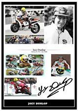 179.  JOEY DUNLOP  SIGNED  A4  PHOTOGRAPH .....GREAT GIFT