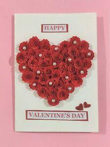 Handmade Paper Quilling Valentine's Anniversary Greeting Card