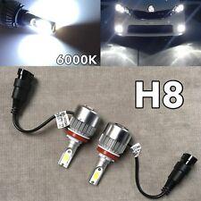 FOG LIGHTS 36W X2 3800LM LED H8 Bulbs HIGH POWER COB 6000K White W1 J