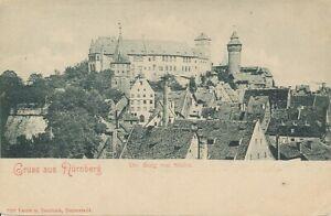 Nürnberg die Burg von Süden gesehen ngl 124.605