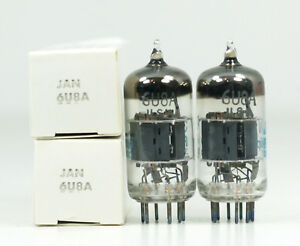 NOS Matched Pair Philips ECG JAN 6U8A Vacuum Tubes - Hickok Tested