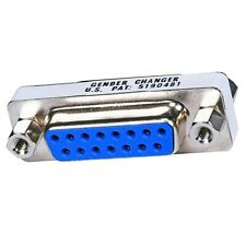 VGA DB15 15 Pin Female to Female Mini Gender Changer Coupler Adapter Converter