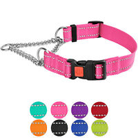 Martingale Dog Collar Reflective Half Check Choke Collars Chain Pet Training