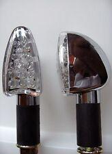 ►4X YAMAHA FZR 600 F/R/RF/RFC,TT600R/E/S,YX600 LED CHROM SPEAR OPTIK BLINKER