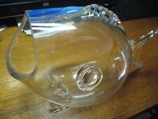 FISH  BOWL  BLOWN  &  CUT GLASS  17''  X 11''  WEDDING ENVELOPS  CANDY  MINT