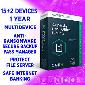 Kaspersky Small Office Security v8 15+2 devices 1 Year FULL EDITION inc 2 SERVER