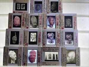 Queen, Mask, Statue, Head: Yoruba Ife Nigeria African Tribal Art 15 35mm Slides