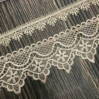 1Yard Lace Trim Sewing Embroidery Applique Craft DIY Dress Clothing White Ribbon