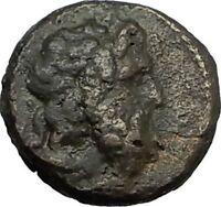 ANONYMOUS 81-196AD Rome Quadrans Authentic Ancient Roman Coin JUPITER i65522