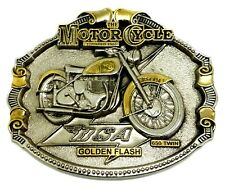 BSA Fibbia della Cintura d'oro Flash 24 KT Oro Classico Biker Moto Bici con licenza