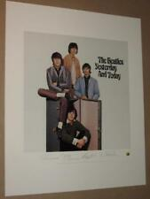 THE BEATLES - YESTERDAY AND TODAY - PLATE SIGNED LITHOGRAPH