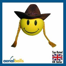 Country & Western Cowgirl Car Aerial Ball Aerial Topper or Dashboard Wobbler