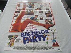 altes Kinoplakat Filmposter A1 BACHELOR PARTY fertig, crazy, geil ein irrer Film