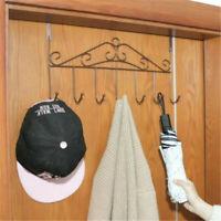 Bath Towel Hooks Over The Door Decorative 7 Hook Rack Clothes Coat Belt Hanger