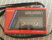 Sony Walkman WM 22 - Stereo Cassette Player in Red - excellent condition.