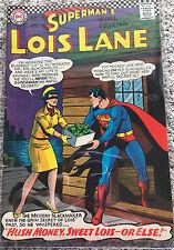 "Lois Lane, Superman's Girl Friend Comic Book ""Hush Money"" #71 Grade: Fine+, 6.5"