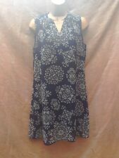 Navy blue chiffon tunic dress size 10 holiday summer dress