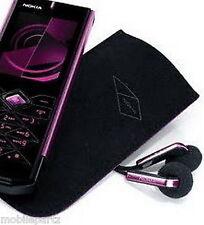 Genuine Nokia 7900 Prism Black Lined Suede Pocket Pouch / Case