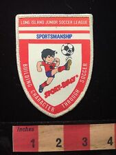 Vtg Sport Billy Long Island Junior Soccer League New York Patch C658