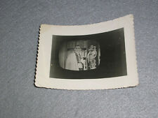 Antique Photo Priest on TV 1950s Strange Weird Spooky Televangelist Television