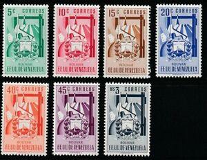 Venezuela   1951   Sc # 527-33   Boliva   MNH   XF   (55491)