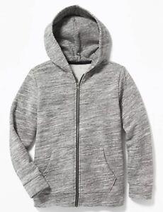 Old Navy Boy Girl Unisex ~ Gray ~ Uniform Zip Hoodie ~ Zipper ~ Size XL … NWT