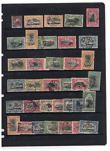 BELGIAN CONGO - PAGE OF EARLIER FINE USED - see scan