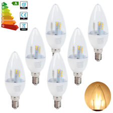 6x Dimmable E14 5W LED Candle Bulbs Spotlight Chandelier Downlight Warm White A+