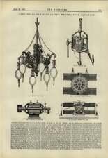 1883 Electrical exhibe Westminster Acuario Lumley Lámpara Dínamo Siemens
