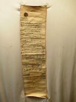 Antique Islamic Manuscript Persian Document On Cloth Farman Rare Collectibles *