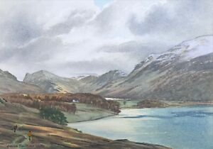 Lake District - Rydal Water & Grasmere? Original Signed Watercolour Painting