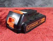 BLACK+DECKER LBXR20 20-Volt 1.5Ah 30Wh Lithium-Ion Battery Used #943