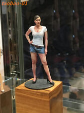 resin figure model garage kit 1/18 Sexy white T-shirt girl 90 mm miniatures RN