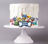 Mighty Pups Personalized Paw patrol Edible Image Cake Decoration Print