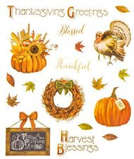 Mrs Grossman/'s PUMPKIN REFLECTIONS Stickers HALLOWEEN THANKSGIVING HARVEST NEW