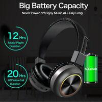 Wireless BT 5.0 Headphone Foldable Stereo Earphone Super Bass Headset Mic