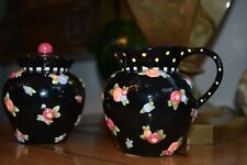 Mary Engelbreit Cottage Collection Creamer & Sugar Bowl Unused