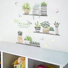 Suculenta Planta Cactus Adhesivo Pared Mural Arte Extraíble Vinilo Hogar Decor