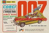 Corgi Toys 261 James Bond Aston Martin DB5 Vintage Poster Advert Sign Leaflet