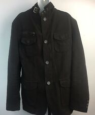 Johnston & Murphy Men's Sz S Cotton Twill Field Military Jacket Brown
