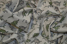 "JURASSIC DINOSAUR PRINT ON SAND STONE STRETCH COTTON TWILL FABRIC 58"" WIDTH"