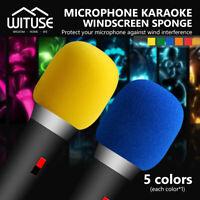 Handheld Stage Microphone Karaoke DJ Windscreen Windshield Foam Mic Cover 5Pcs
