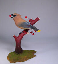 Cedar Waxwing Orig Backyard Bird Carvings/Birdhug