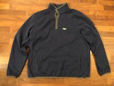 L.L.Bean Sweater Pullover Snaps Marsupial Pockets Blue Mens Xxl Tall