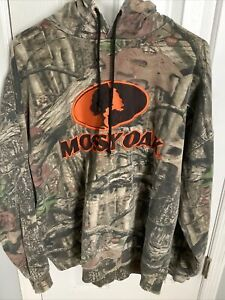 MOSSY OAK Break Up Pullover Hoodie - Size 2XL -Camo Country Hunting - Large Logo