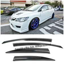 Fits 06-11 Civic JDM Sedan 4Dr Side Window Visors MUGEN 2 Rain Guard Deflectors