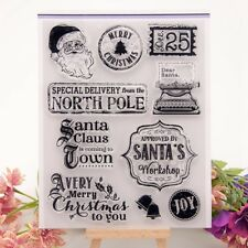 Christmas Words Silicone Clear Rubber Stamp Cling Diary Scrapbooking Decors K6