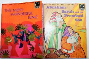Lot 2 Arch Quality Children's Religious Bks WONDERFUL KING~ABRAHAM, SARAH & SON