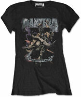 PANTERA Vintage Rider Cowboys From Hell WOMENS GIRLIE T-SHIRT OFFICIAL MERCH